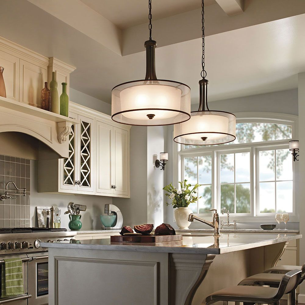 Light Fixtures Kitchen: Kichler Lacey 42385MIZ Kitchen Lights