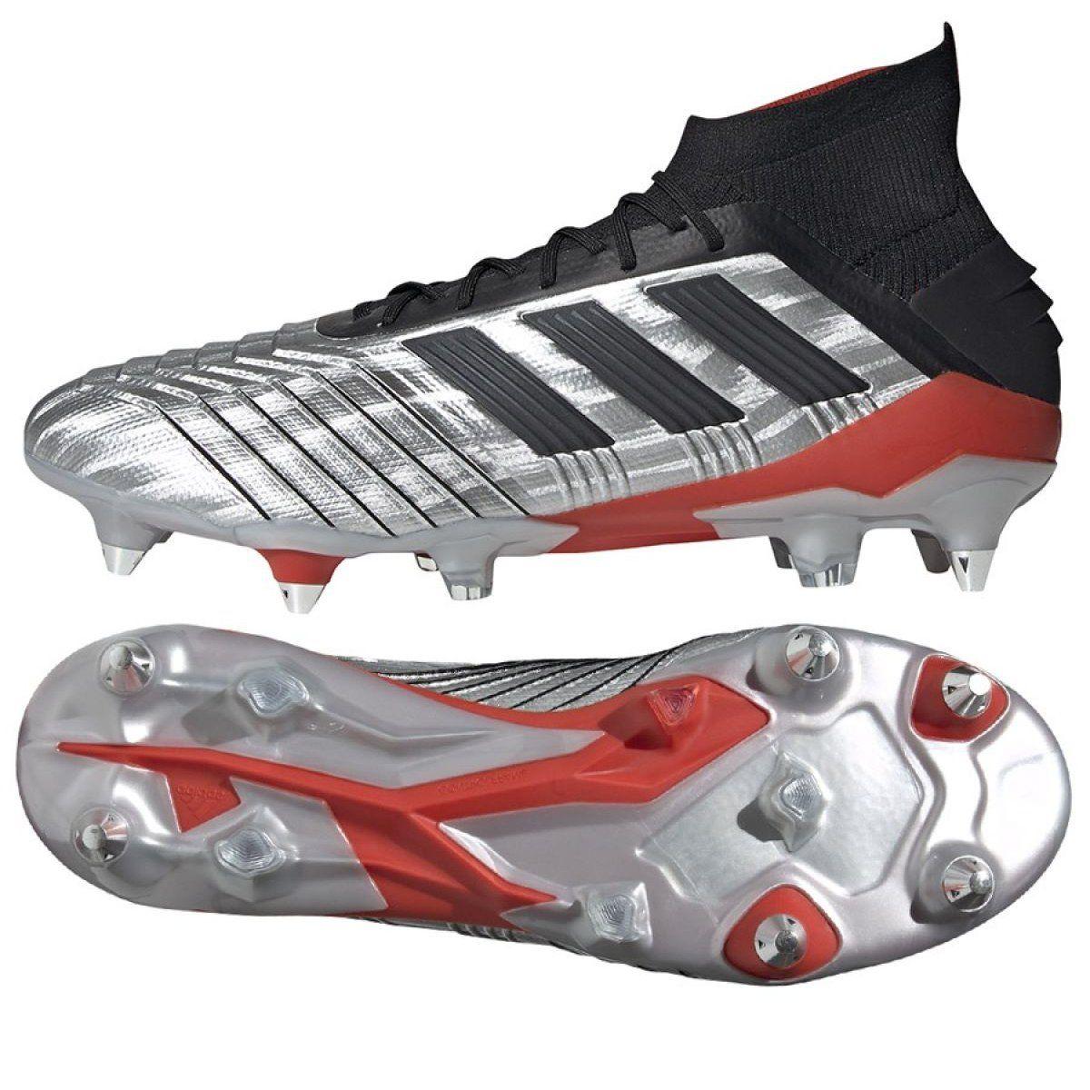 Football Boots Adidas Predator 19 1 Sg M F99986 Silver Multicolored Mens Football Boots Football Boots Adidas Predator