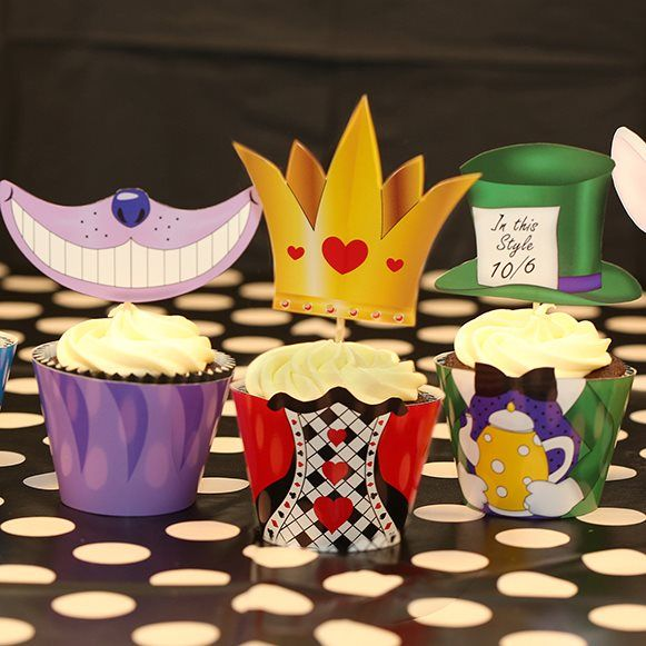 Alice in Wonderland Cupcake Wrappers by Party Ideas UK