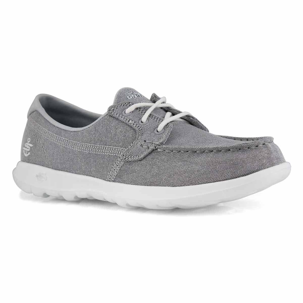 Women S Gowalk Lite Grey Boat Shoes Skechers Women Boat Shoes