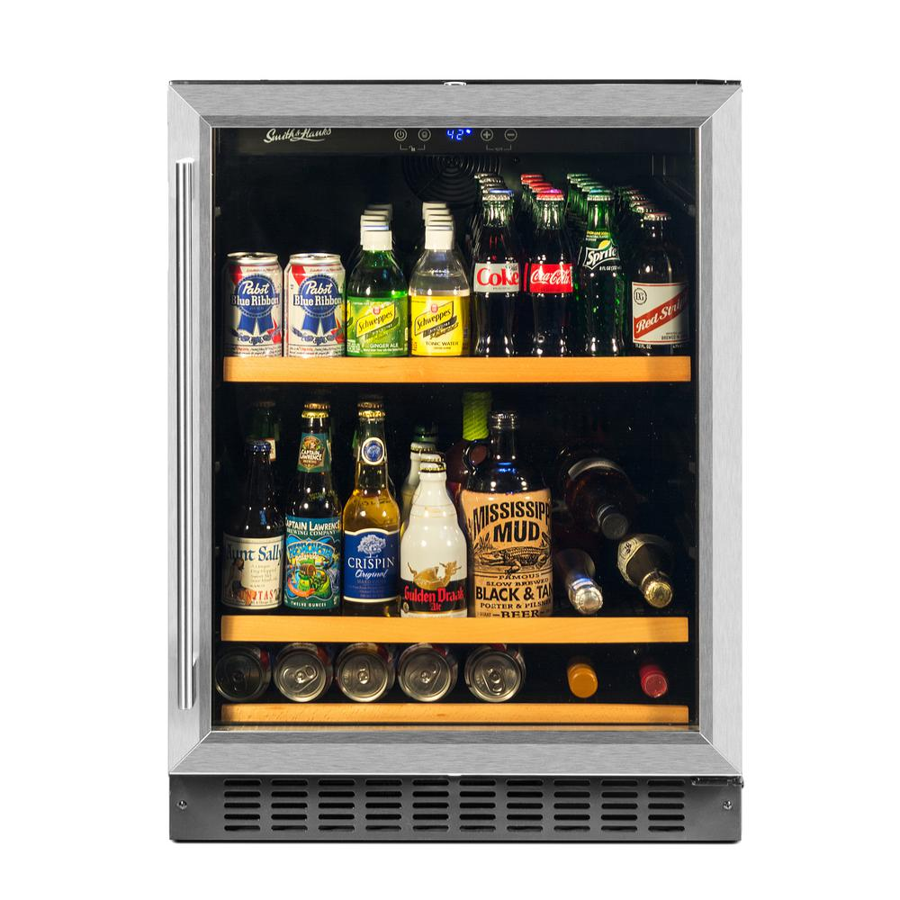 Smith Hanks 178 Can Beverage Cooler Stainless Steel Re100012 The Home Depot In 2020 Beverage Refrigerator Beverage Cooler Beverage Center