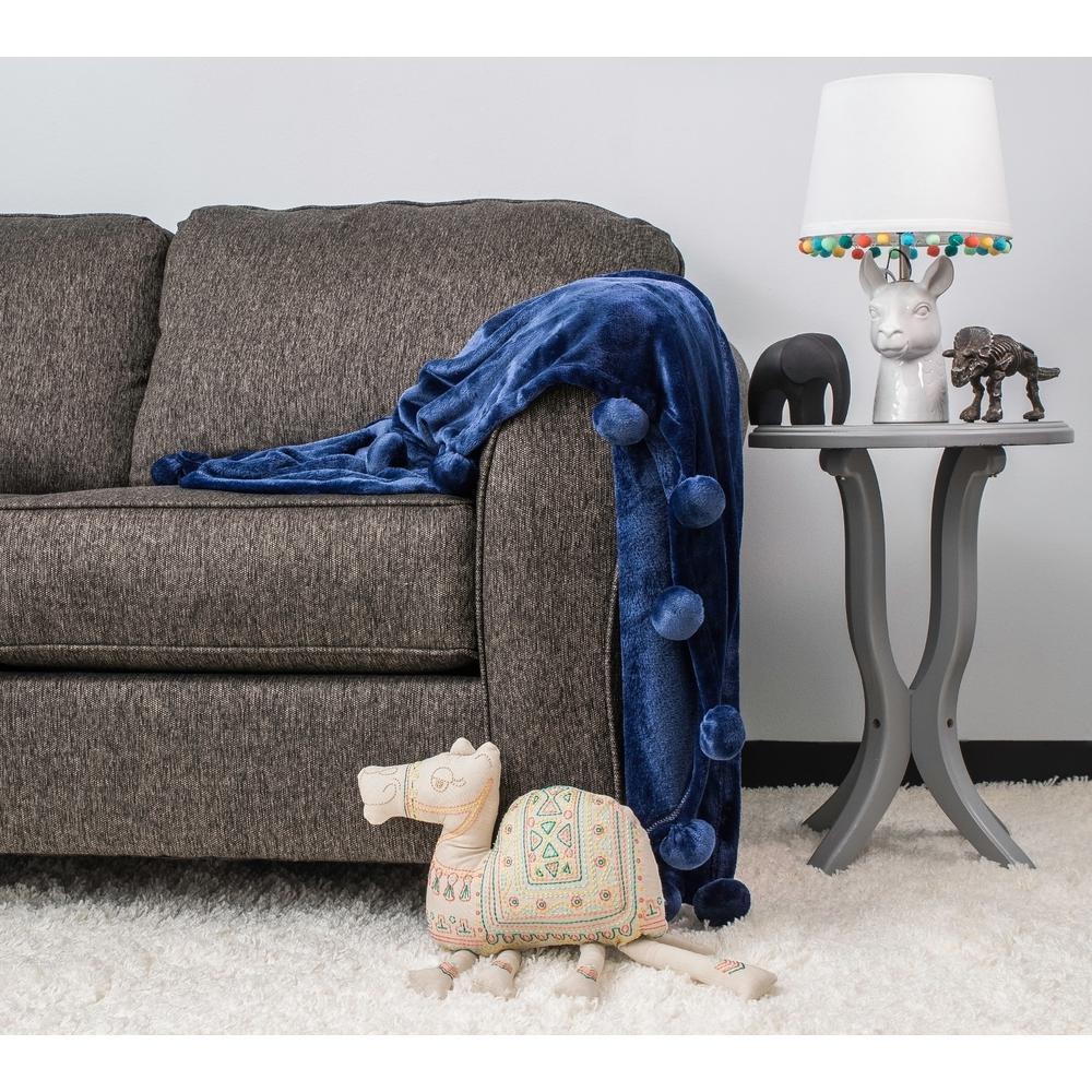 Lala Bash Za Blue Throw Blanket