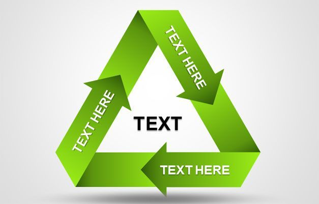 green recycle diagram powerpoint Projects to Try Pinterest - recycling powerpoint templates