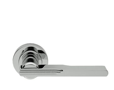 Manital Veronica Art Deco Style Polished Or Satin Chrome Br Door Handles Aq5 Sold In Pairs