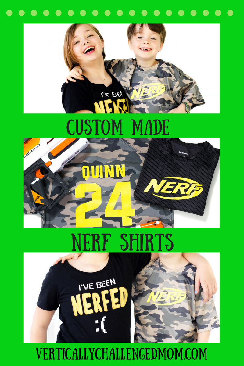 Custom Nerf Shirts For Kids Perfect For Nerf Birthday And War