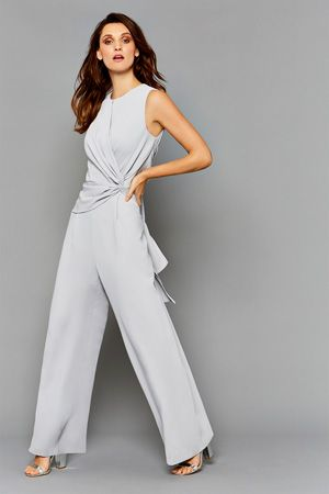 e276d4ac9da4 Trousers and Jumpsuits   Greys MIMI TWIST FRONT JUMPSUIT   Coast Stores  Limited