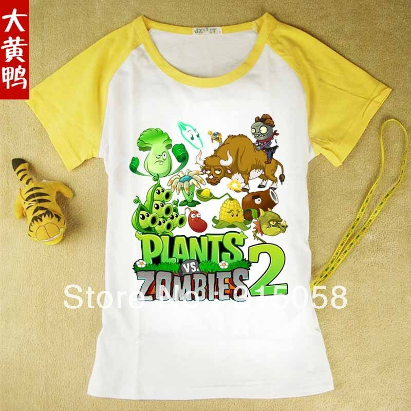 $12.00 (Buy here: http://appdeal.ru/8agp ) 2016Free shipping of Plants vs Zombies T-shirt Children's clothes Children's T-shirt  Plants vs zombies for just $12.00