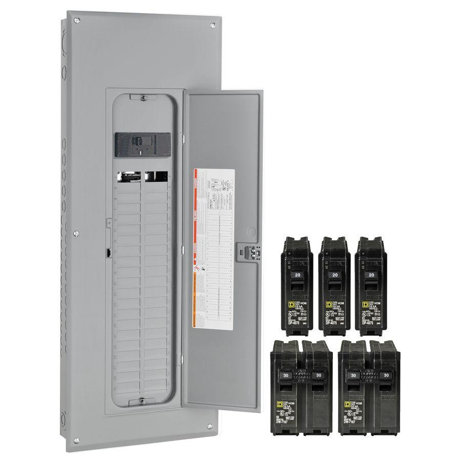 Square D 80-Circuit 40-Space 200-Amp Main Breaker Load Center (Value ...