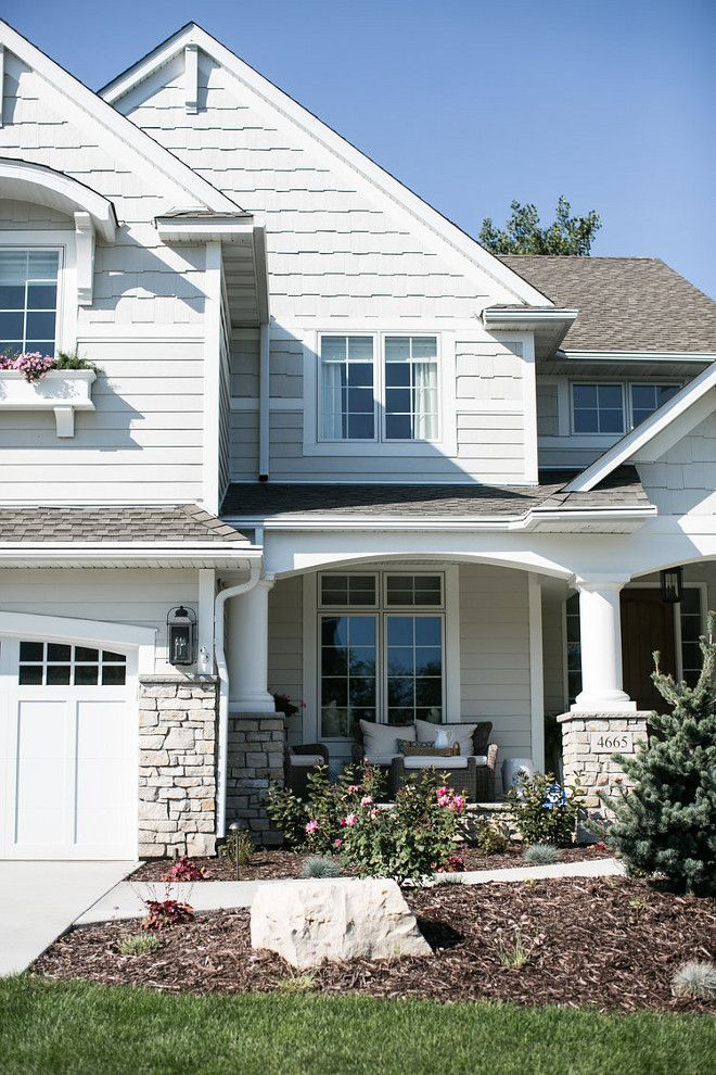 Exterior hc 173 edgecomb gray trim simply white paints - Benjamin moore exterior paint finishes ...