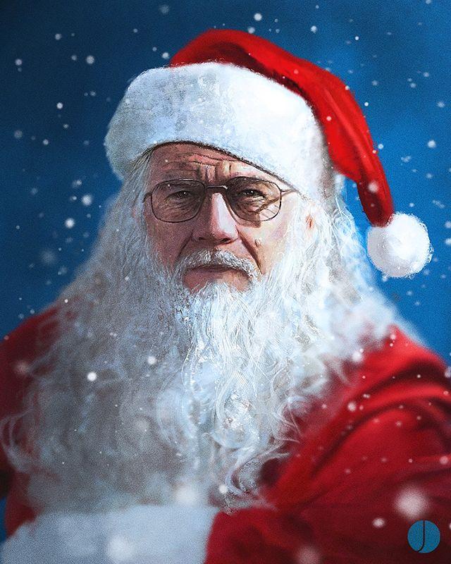 Walter Santa Claus White Der Einzig Wahre Weihnachtsmann Breaking Bad Walter White Bad Santa