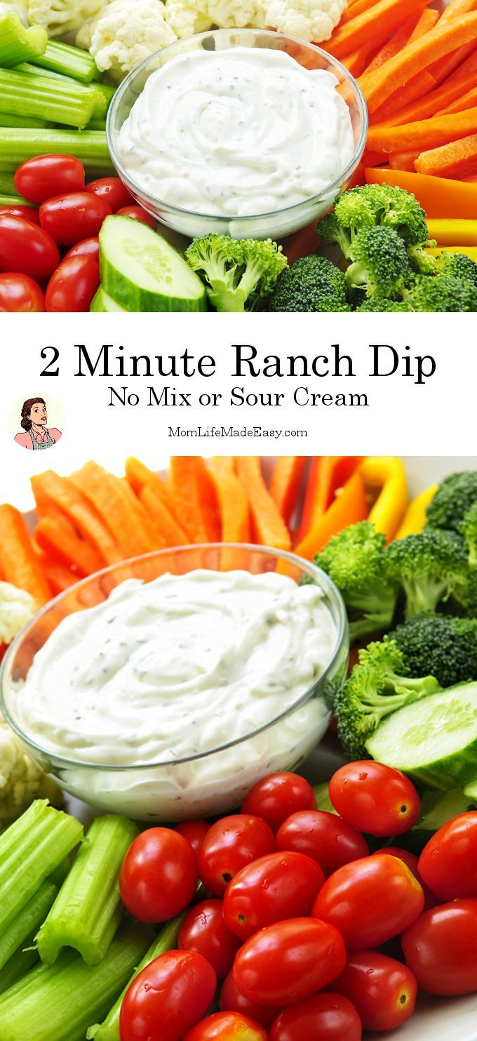 2 Minute Ranch Dip Recipe Healthy Dips Food Healthy
