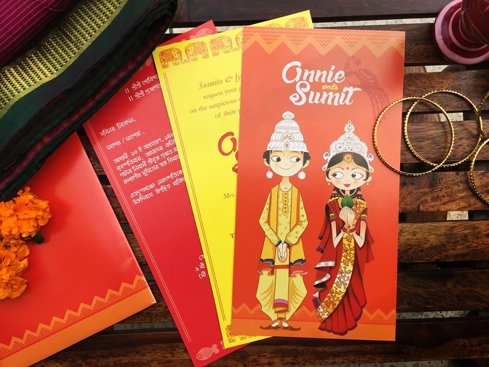 A bengali wedding invitation by Vineeta Grower | Wedding Invitation ...