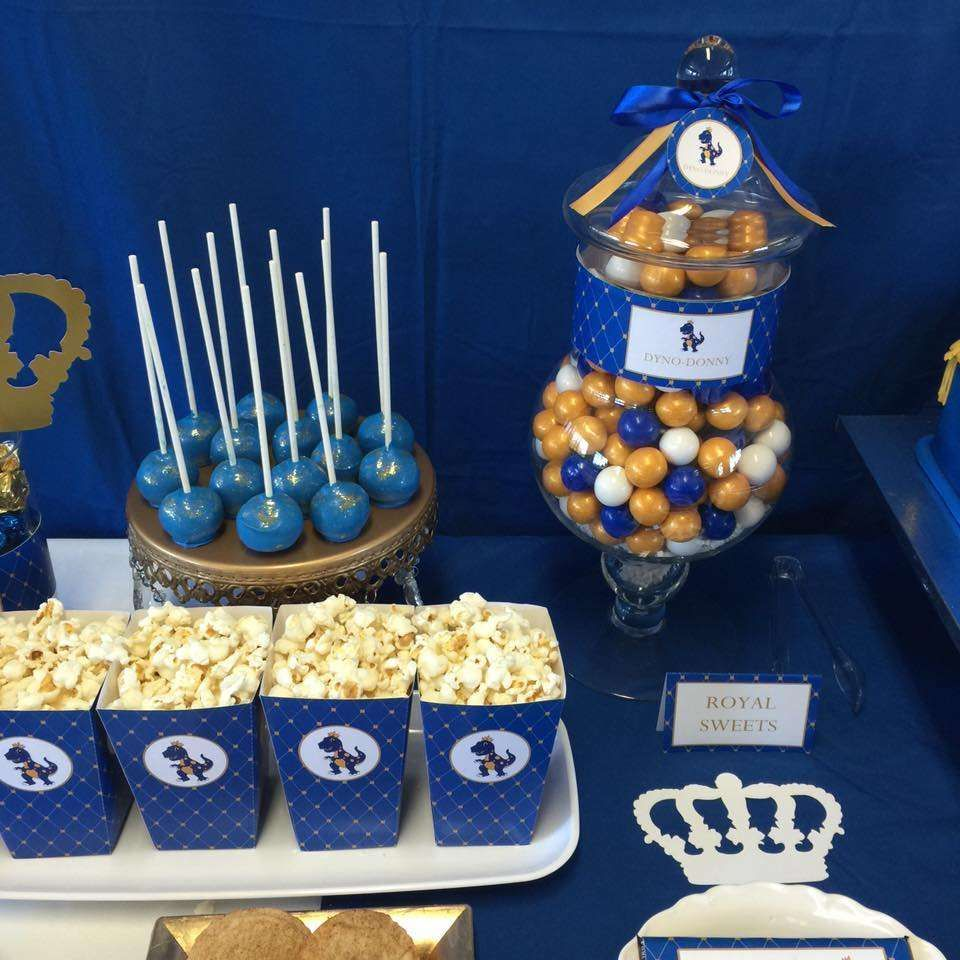 blue and gold birthday party