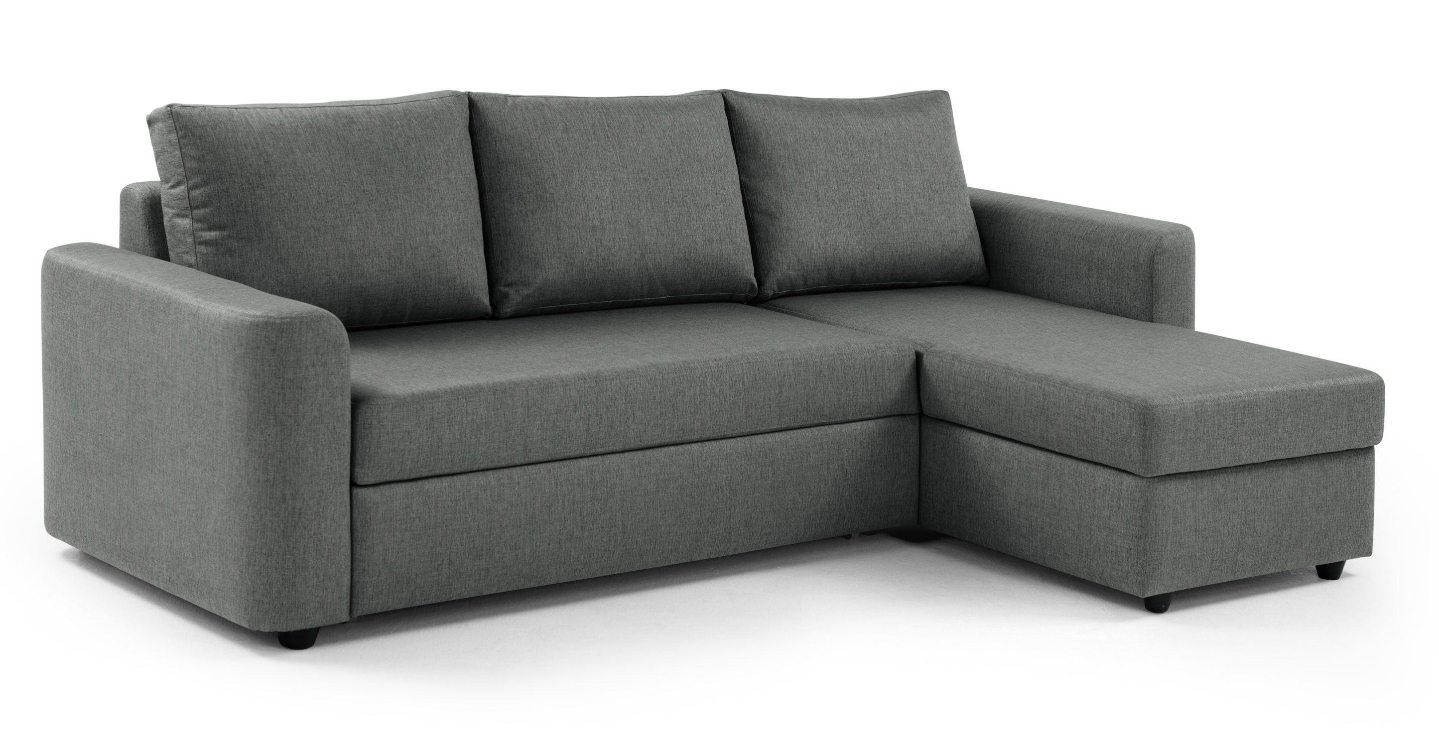 Albie Right Hand Facing Corner Storage Sofa Bed, Steeple