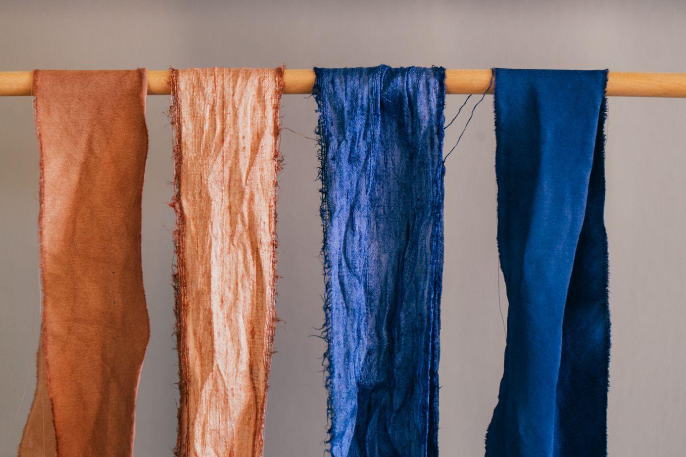 Dyed silk ribbon