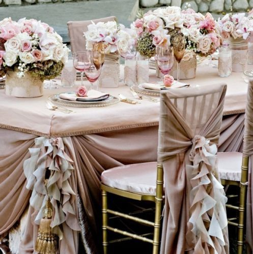 Dusky pink and ivory ruffled wedding chair covers linen envy dusky pink and ivory ruffled wedding chair covers wedding table decorationsvintage junglespirit Choice Image