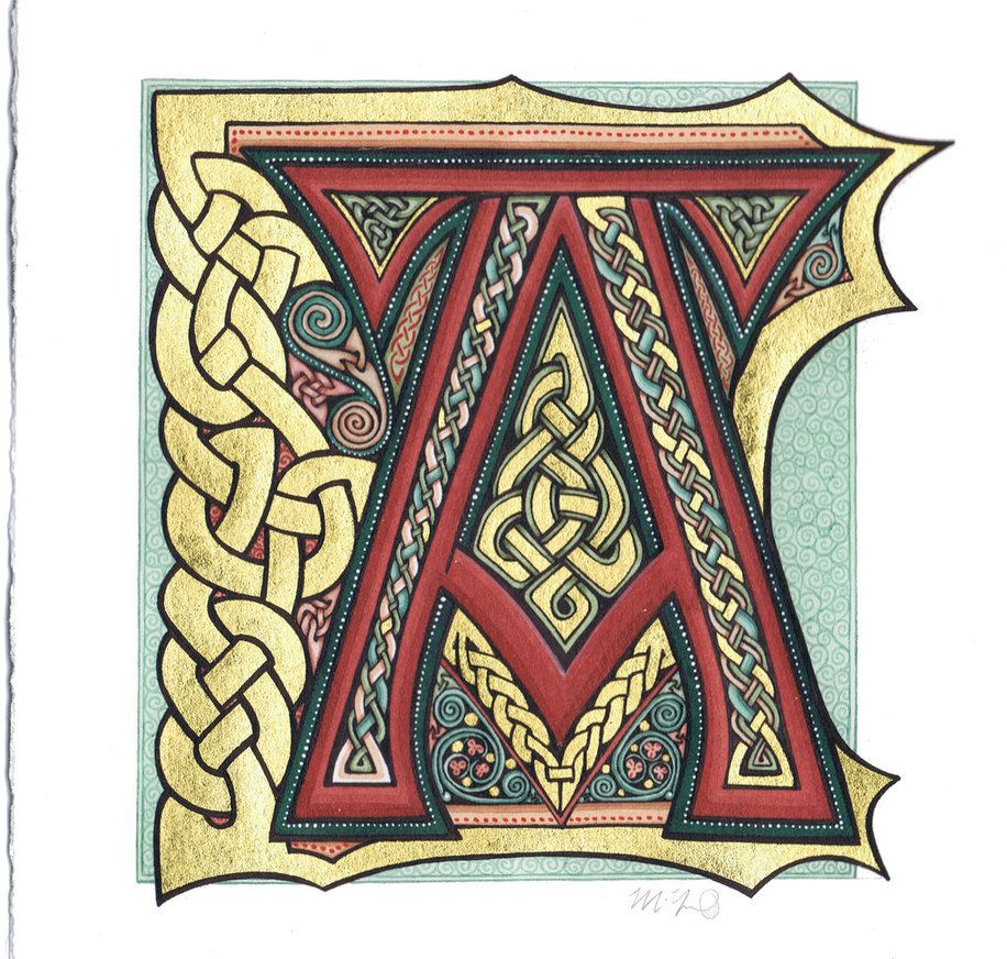Tattoos Celtic Norse Illuminated A By Omegalith