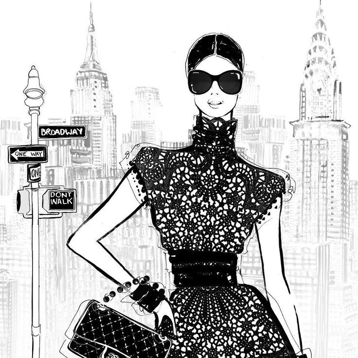 Image Result For Black White Fashion Sketches New York City Ilustracion De Moda Ilustraciones De Moda Dibujos De Moda