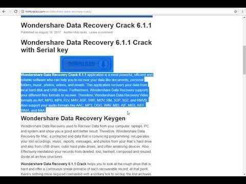 wondershare data recovery 6.6.1.0 serial key