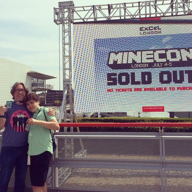 It's getting real - we're checked in! #minecon2015