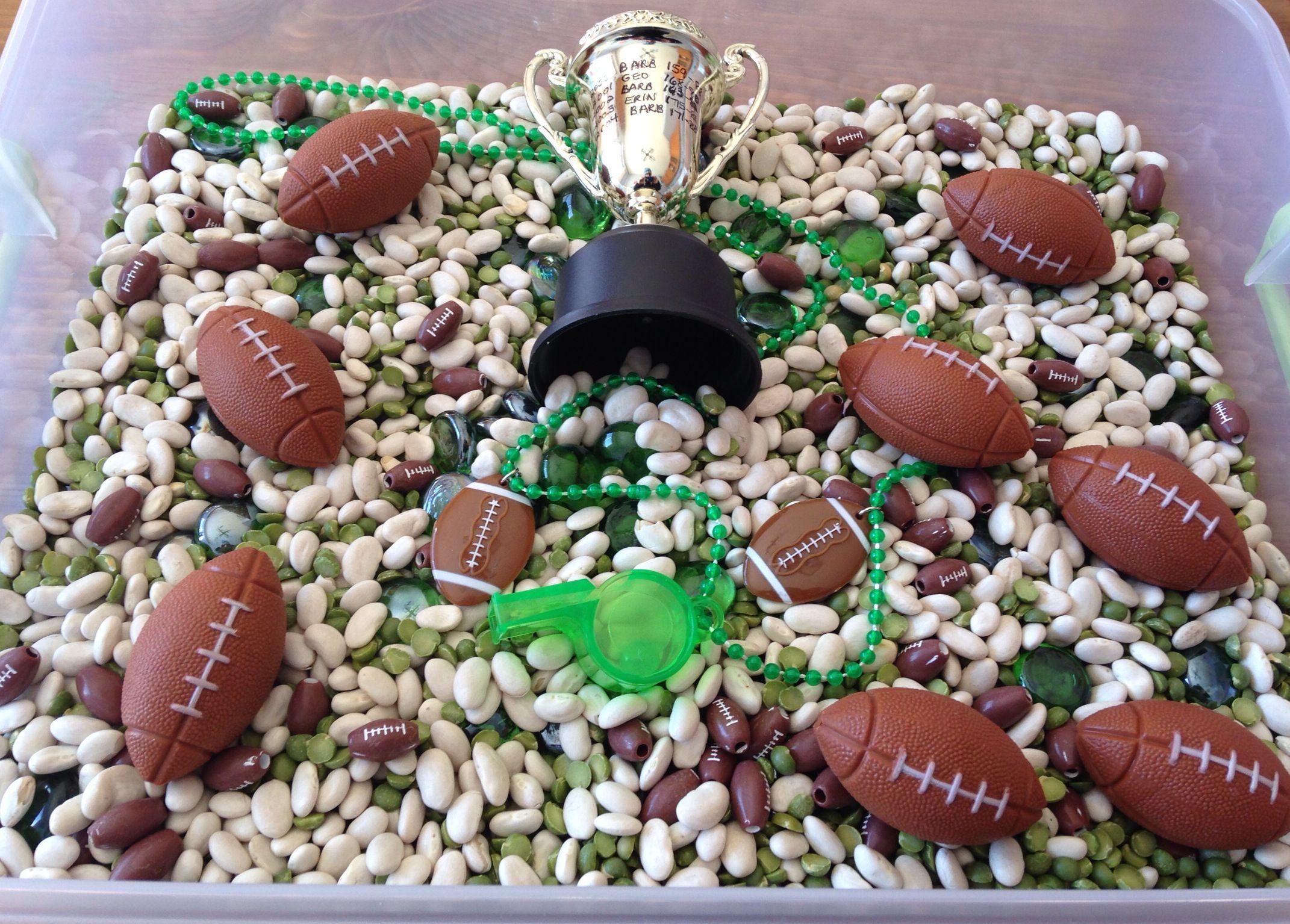 Super Bowl Sensory Bin