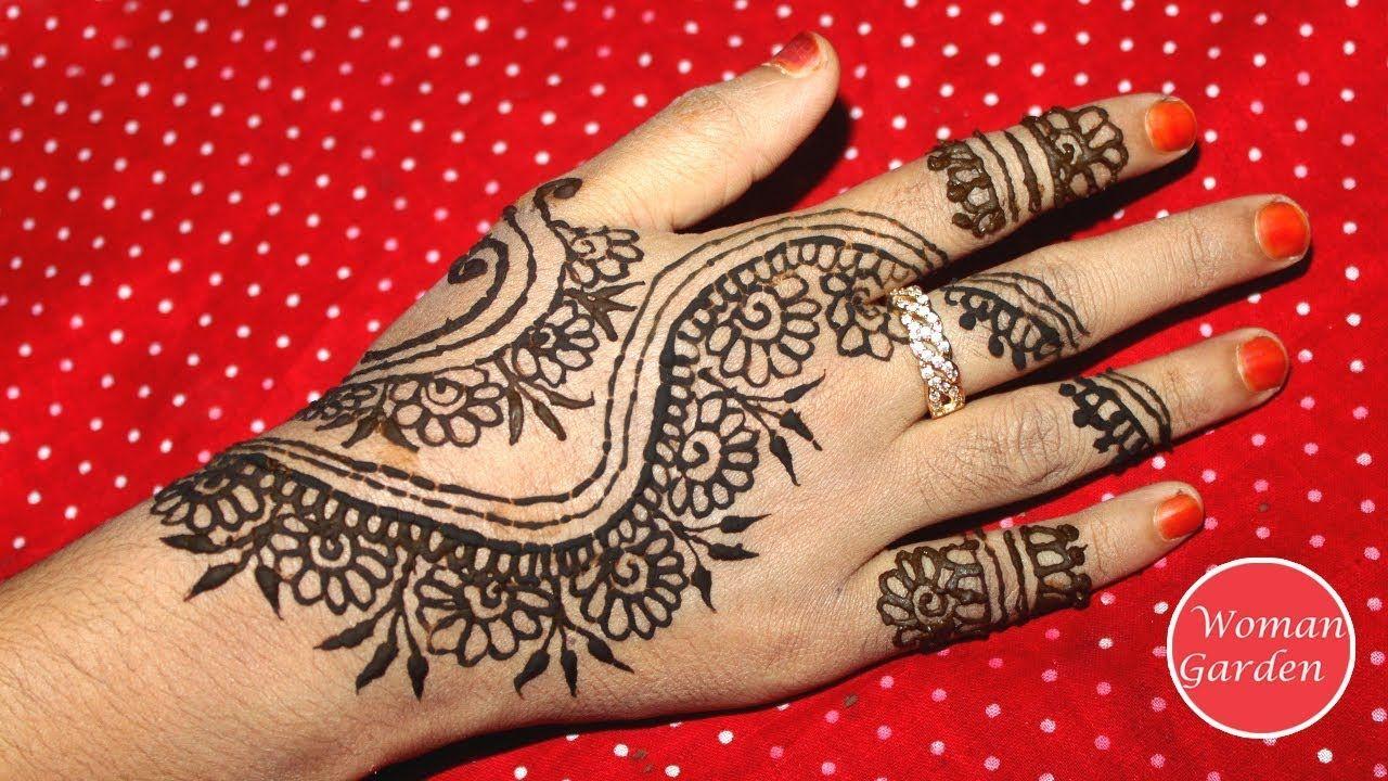 Mehndi Step By Step Designs : Easy mehndi design for hands step by mehendi designs hand