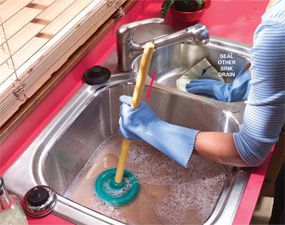 How To Unclog A Sink Sink Drain Clogged Sink Drain Unclog Sink