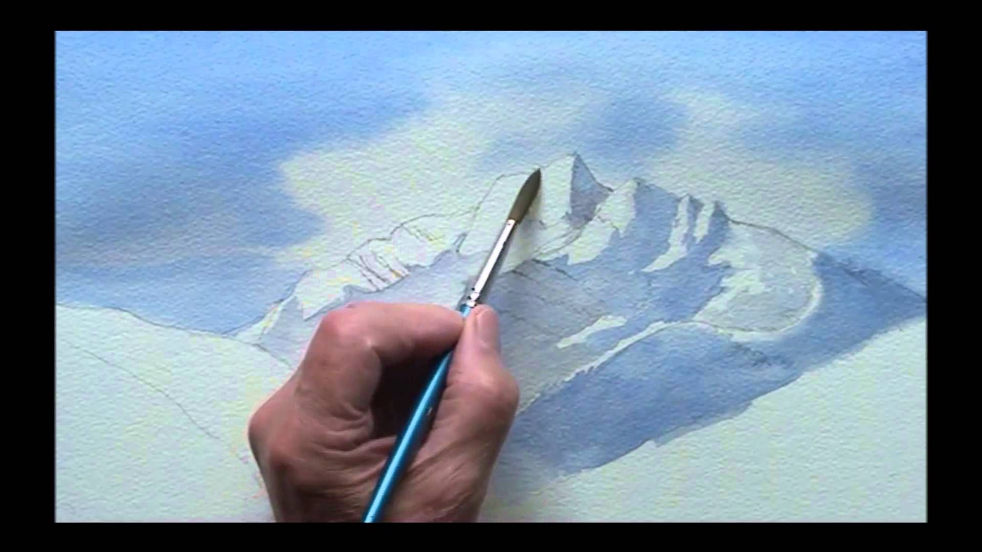 Painting Mountains In Watercolor Mountain Paintings