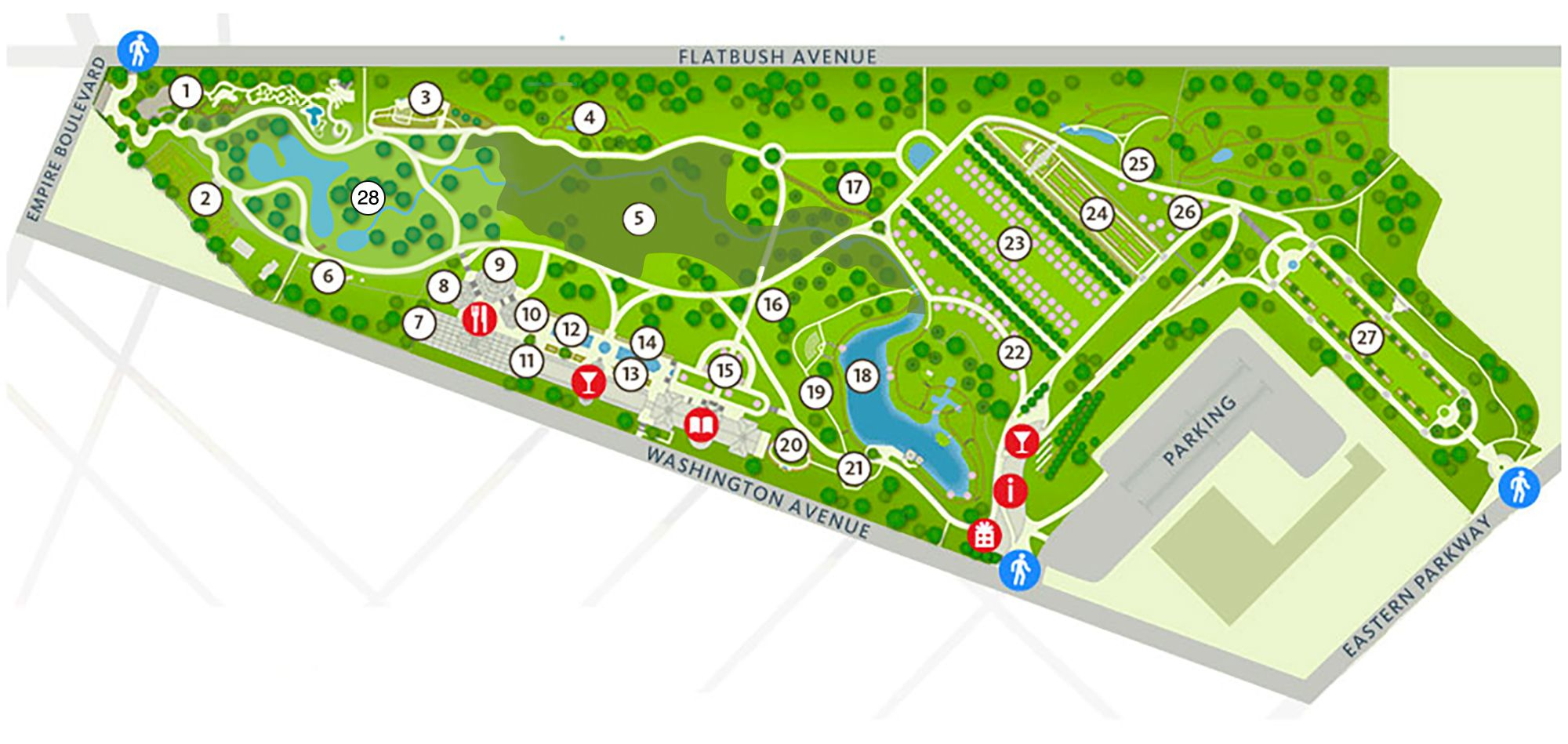 brooklyn botanic garden map Gardens Conservatories Botanical Gardens Garden Nursery brooklyn botanic garden map
