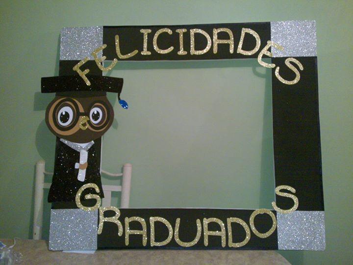 Marco de unicel para graduacion buscar con google - Marcos para fotos decoracion ...