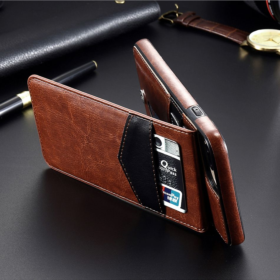 3in1 3 Color Genuine Leather Purse Wallet Pouch Removable Phone Case For iPhone