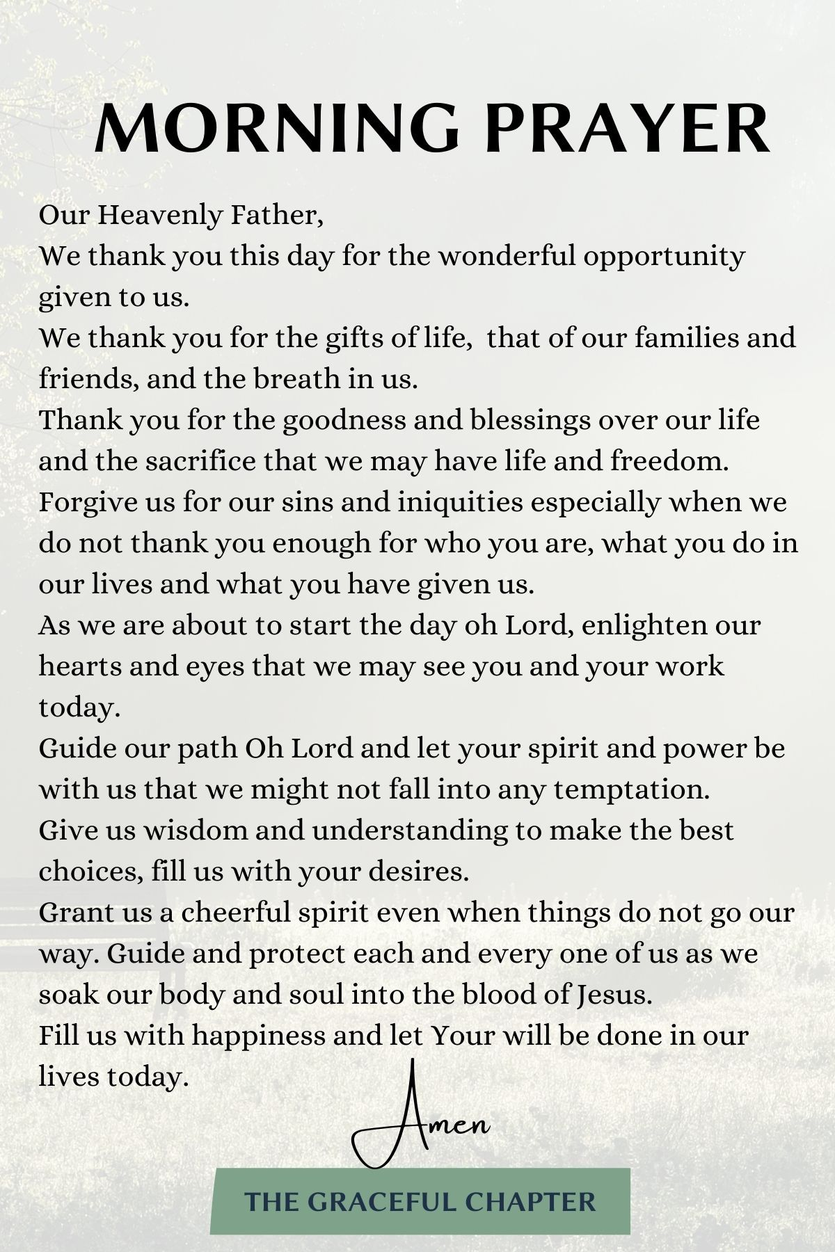 10 Uplifting Morning Prayers To Start Your Day - The Graceful Chapter