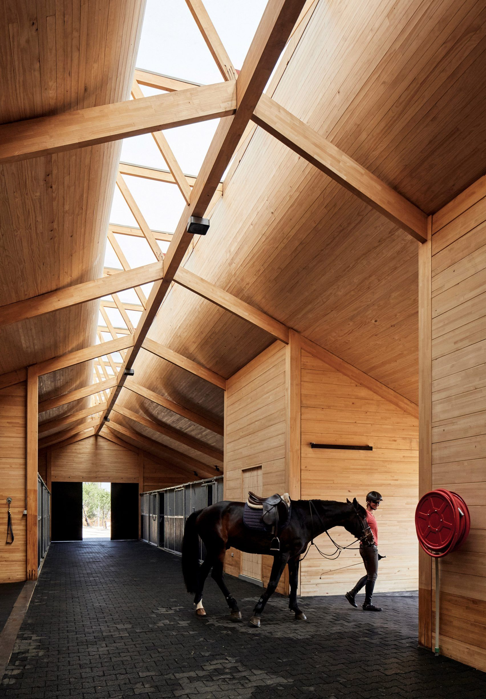 Best Elongated Skylight Illuminates Chilean Stables By Matias 400 x 300