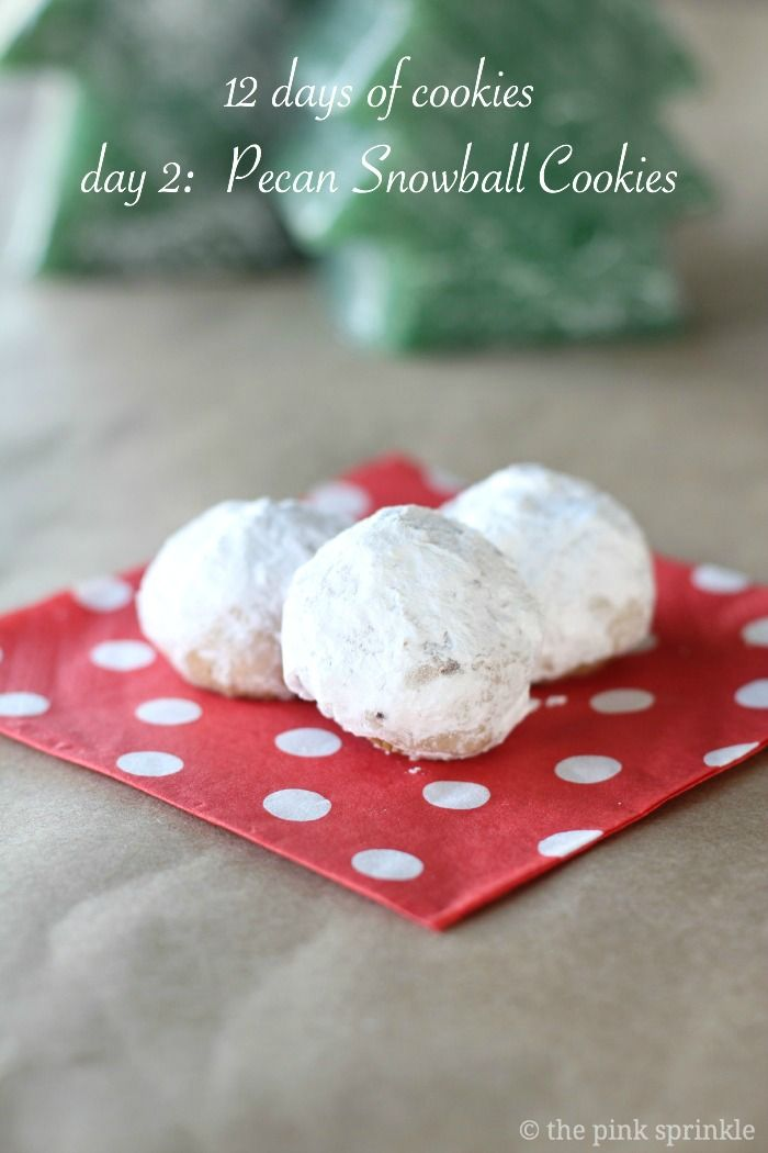 The best traditional pecan snowball cookies!  This recipe has been around forever, but the cookies are incredible!  Part of the 12 days of cookies.