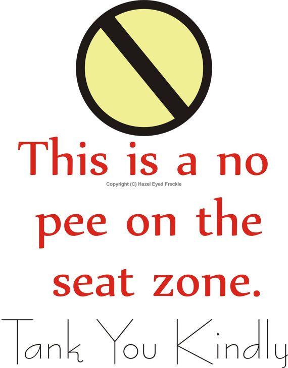 Bathroom Signs Printable