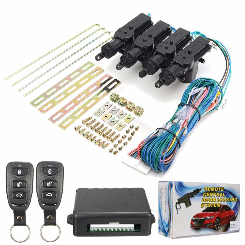 433 92mhz 1 Set 4 Door Remote Control Keyless Entry Central Lock