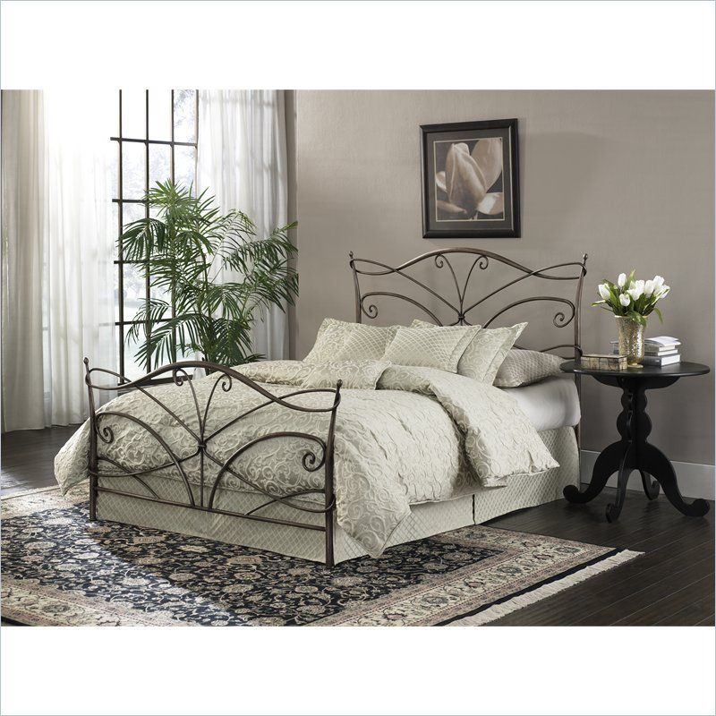 Lowest price online on all Fashion Bed Papillon Brushed Bronze Bed ...
