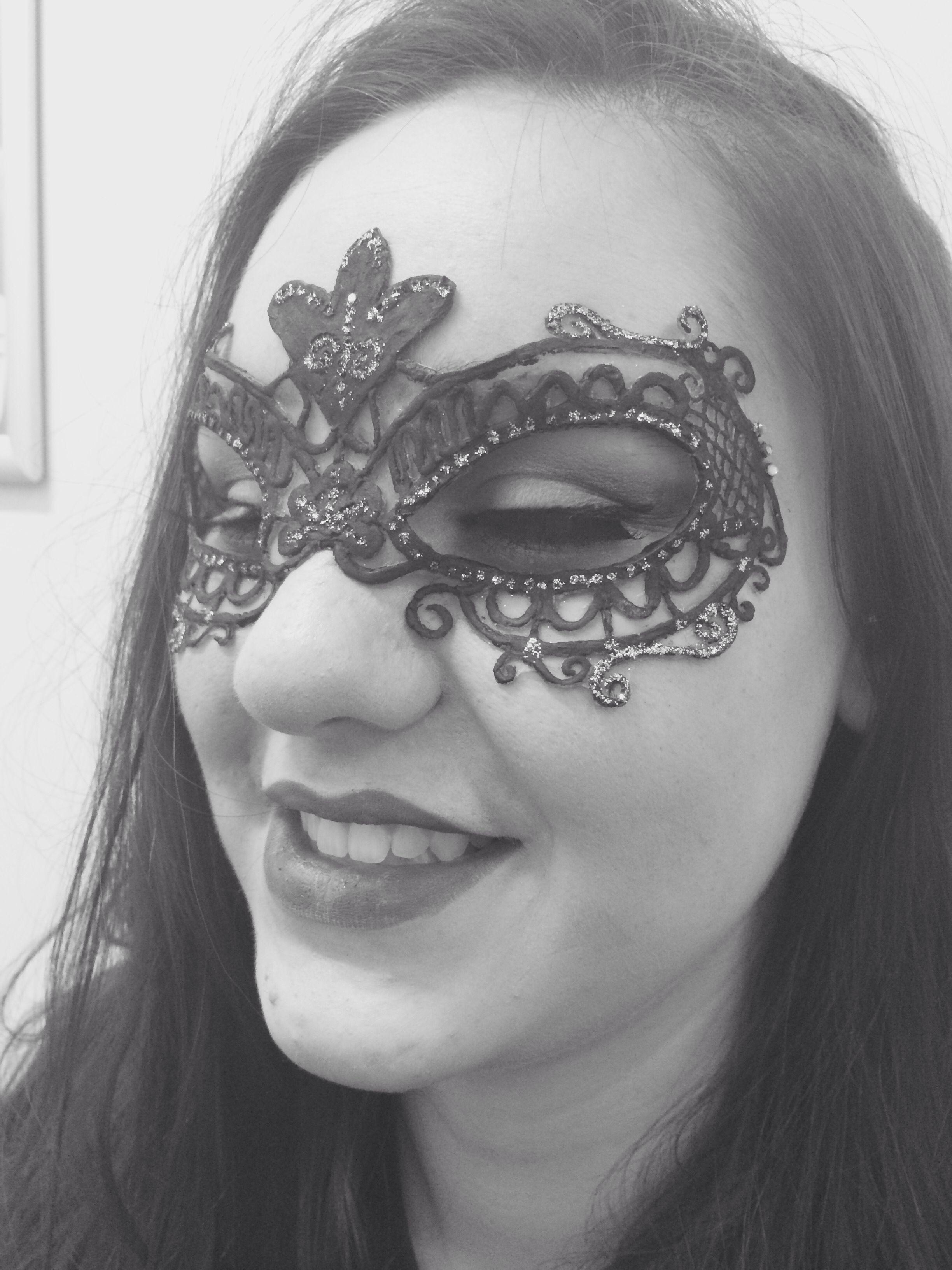 Masquerade mask prosthetic - beauty makeup. MODEL Lauren Hall. MUA-Frances Luck