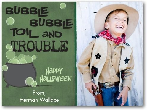Halloween cards for kids, Witch____s Spell