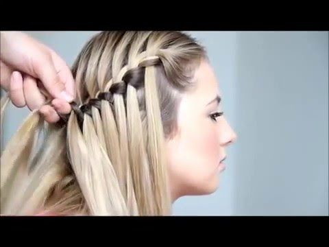 Como hacer una trenza en cascada paso a paso video paso - Como realizar peinados ...