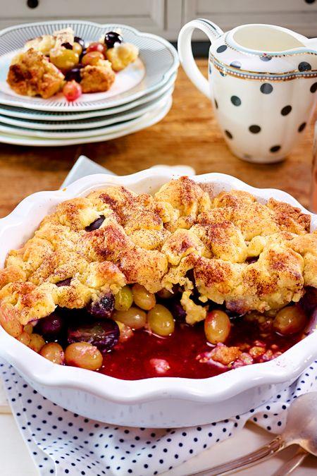Trauben-Crumble #Äpfelverwerten
