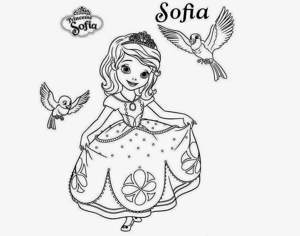 Beautiful Princesa Sofia Colour Drawing Hd Wallpaper Free