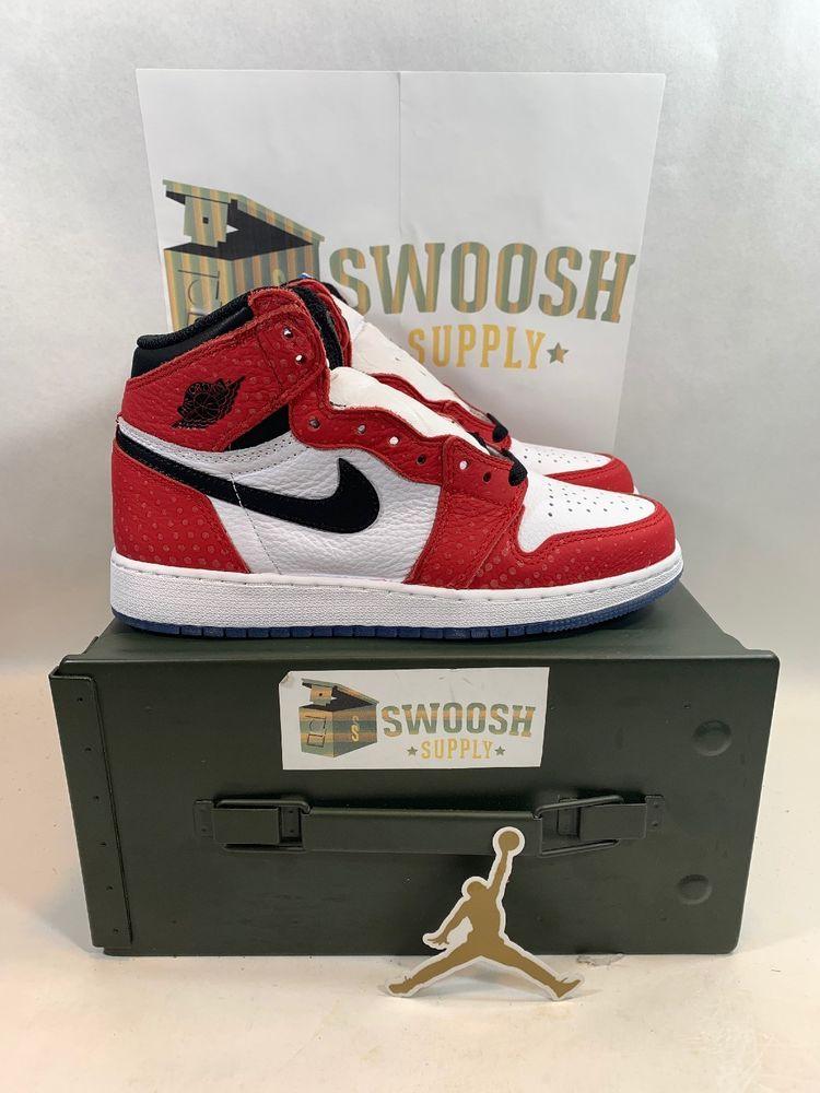 e530b957f2e Nike Jordan Retro 1 Origin Story Spider Man 575441-602 Youth GS sz 6Y   Jordan  AthleticSneakers