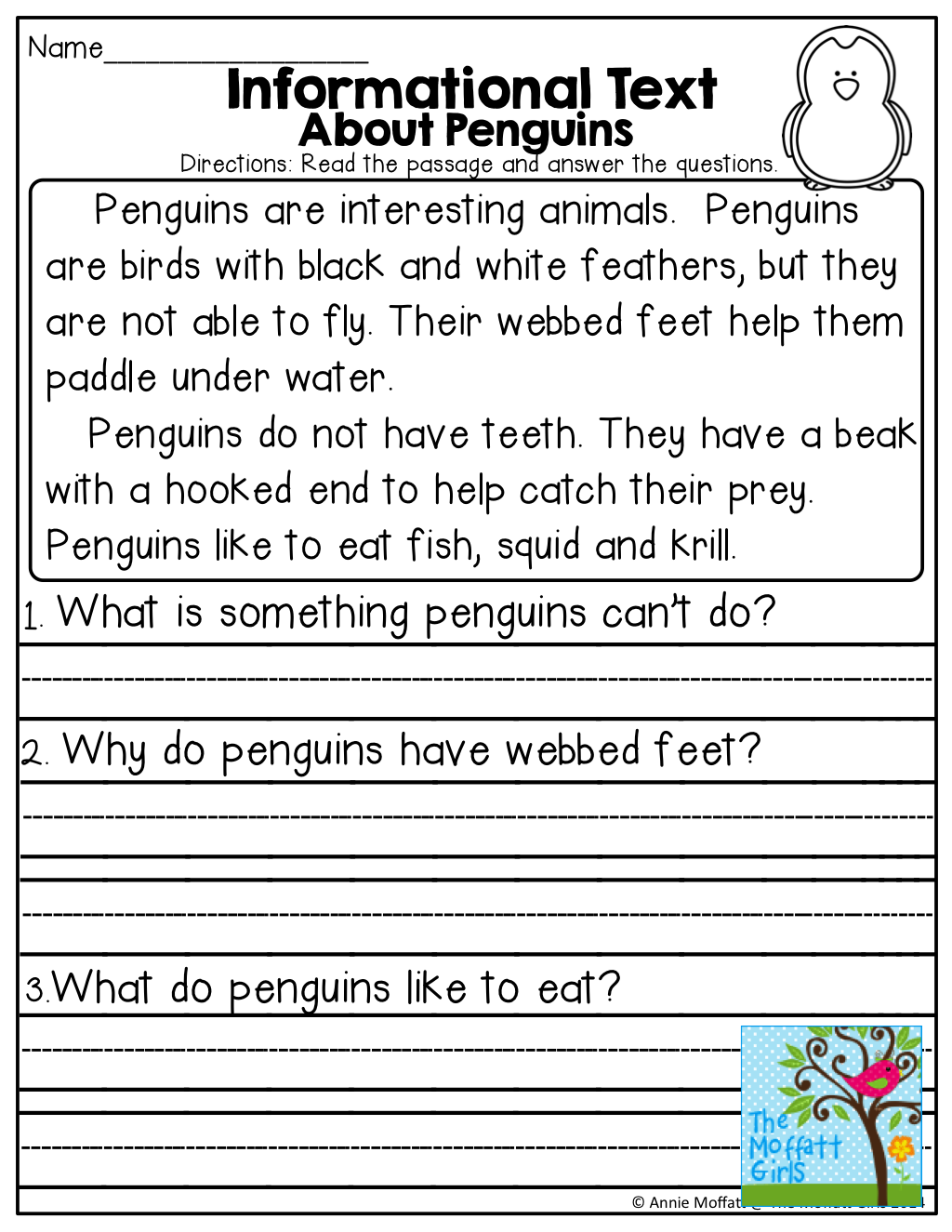Informational Text About Penguins And Tons Of Other Great