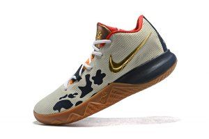 35f60cbb79e4 Mens Nike Kyrie Flytrap EP Beige Black Gold Red Basketball Shoes ...