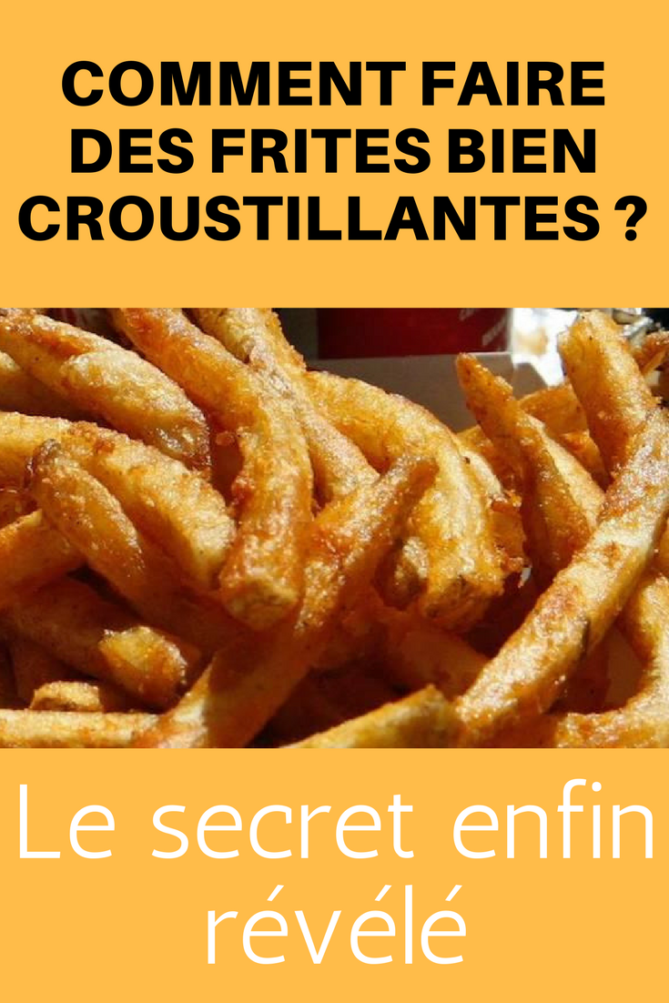 Comment Faire Des Frites Croustillantes : comment, faire, frites, croustillantes, Comment, Faire, Frites, Croustillantes, Secret, Enfin, Révélé., Envie, Healthy, Family, Dinners,, Eating,, Delicious, Recipes