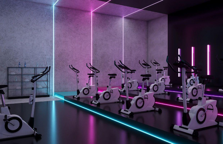 Ladies Fitness Center Interior Design Riyadh Saudi Arabia Cas Ginasio Interior Decoracao De Academia Sala De Ginastica Em Casa