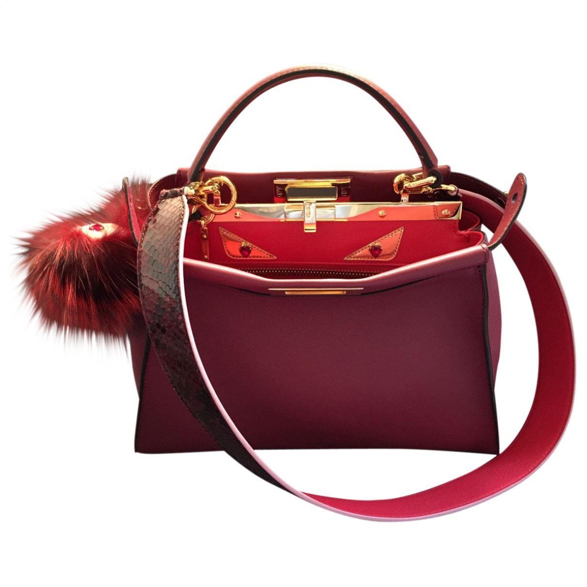 Red Leather Handbag Peekaboo 3d440b0eb570