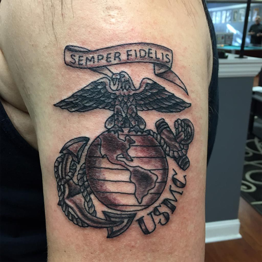 First tattoo at last sgt grit community marine corps