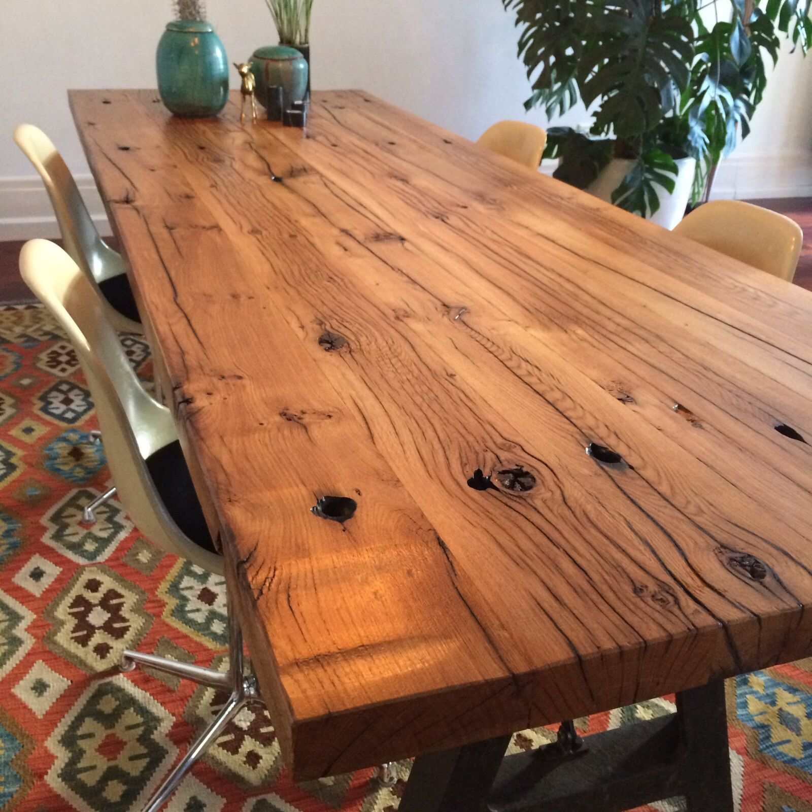 Eettafel Met Robuust Blad.Tafel Industrieel Vintage Grote Stoere Industriele Tafel